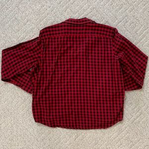 Chaps Tops - Chaps Button Up Shirt, Red + Black, Size XL